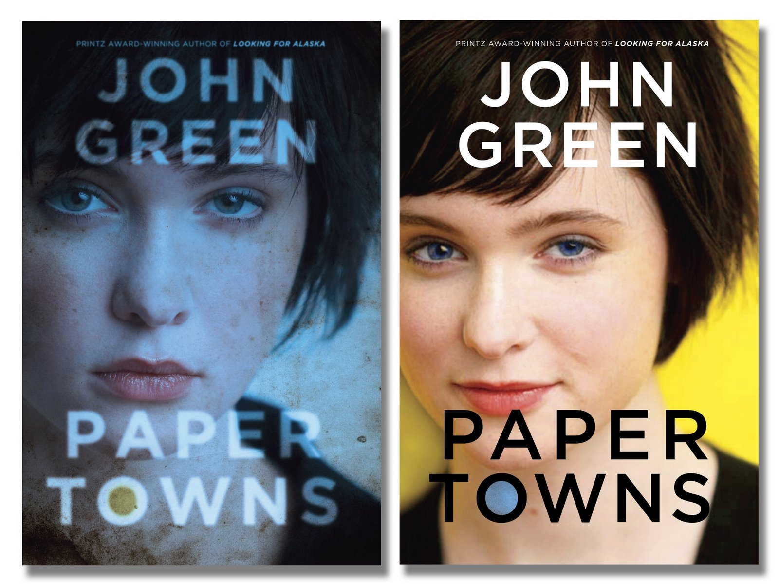 Covers for the hardcover editions of Paper Towns