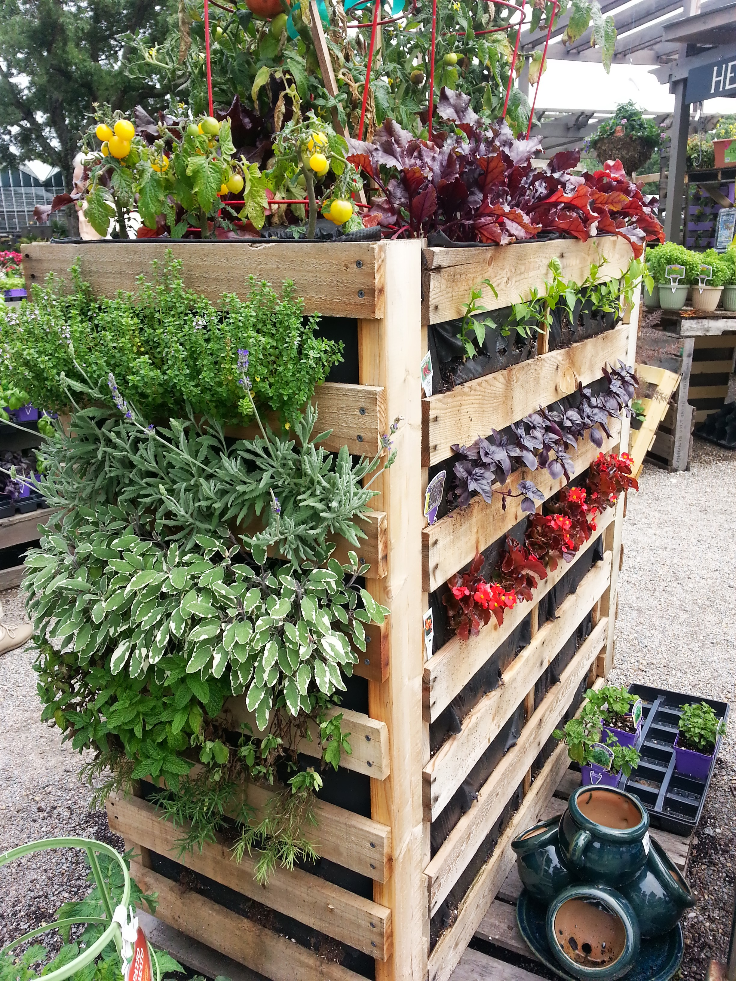 This Is A Pallet Garden Taken To The Next Level And I Love It, Especially  The Room At The Top For Tomatoes. Something Else Iu0027d Like To Make For  Myself.