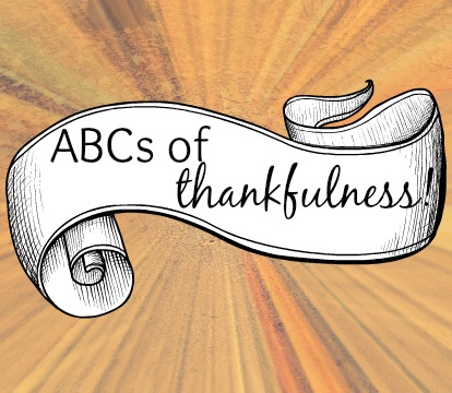 abcs of thankfulness